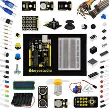 Новая упаковка keyestudio обновлен Maker обучения Kit/Starter Kit для Arduino Starter + UNOR3 + 1602LCD Servo + шасси + PDF projet