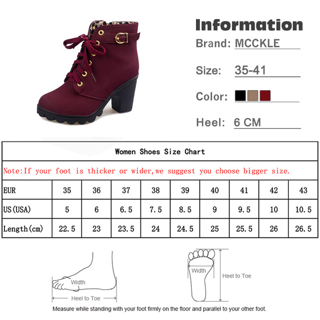 MCCKLE Plus Size Ankle Boots 5