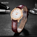 WLISTH Women's Watches Brand Luxury Fashion Ladies Watch Leather band Women clock Quartz Shock resistant waterproof Female watch