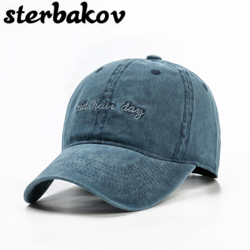 Wholesale retail light plate letter snapback hats cotton quality.   Baseball     cap   can be washed with bone casquette Lady Men hat