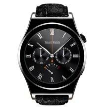 2016X10 Satt Runde Smart Uhr Pulsmesser Bluetooth 4,0 Echt Leder Smartwatch Arabisch Türkisch Reloj Inteligente