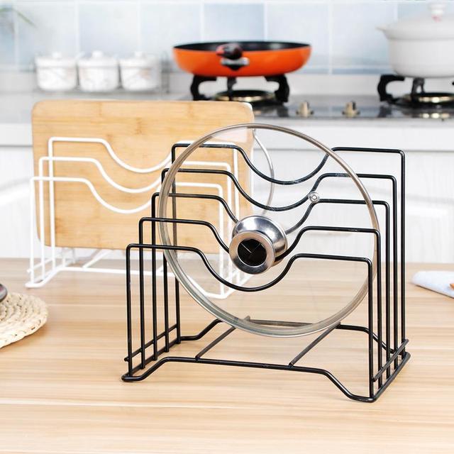 Kitchen Drain Shelf Rack Cutting Board Organizer Drainer Pot Stand With 4 Shelves
