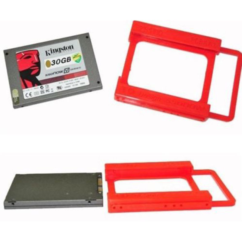 New 1Pc 2.5 to 3.5 SSD HDD Adapter Mounting Tray Bracket Hard Drive Bay Caddy brand new ssd hdd 2 5 to 3 5 mounting metal bracket for desktop pc case tray kit with screws free shipping