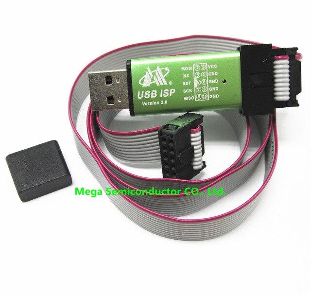 1pcs,Free shipping USB ISP USBasp USBisp Programmer for 51 ATMEL AVR download support Win 7