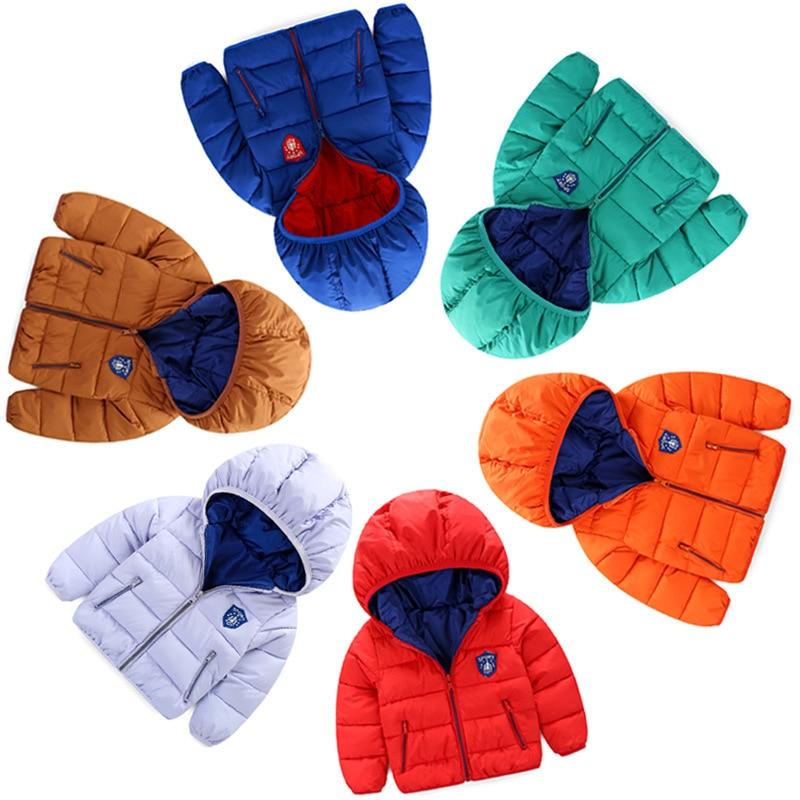 1 Sale 2016 Baby Girls Winter Coat Children Stripe Jacket Kids WARM Thick Cotton-padded Coat Windproof Outdoor Parka Outerwear