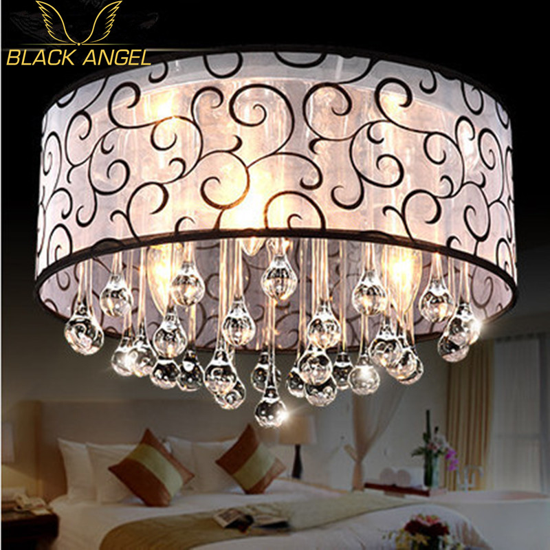 2017 modern crystal ceiling light fixtures for bedroom luminarias para sala ceiling lights design for home Free shipping