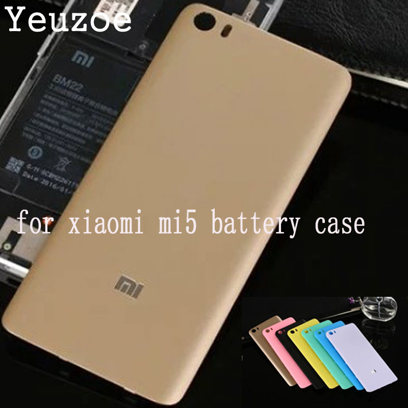 Yeuzoe Fashion Plastic <font><b>Battery</b></font> Back <font><b>Cover</b></font> for <font><b>xiaomi</b></font> <font><b>mi5</b></font> mi 5 M5 Back <font><b>Battery</b></font> housing <font><b>cover</b></font> replacement Parts <font><b>xiaomi</b></font> 5 image