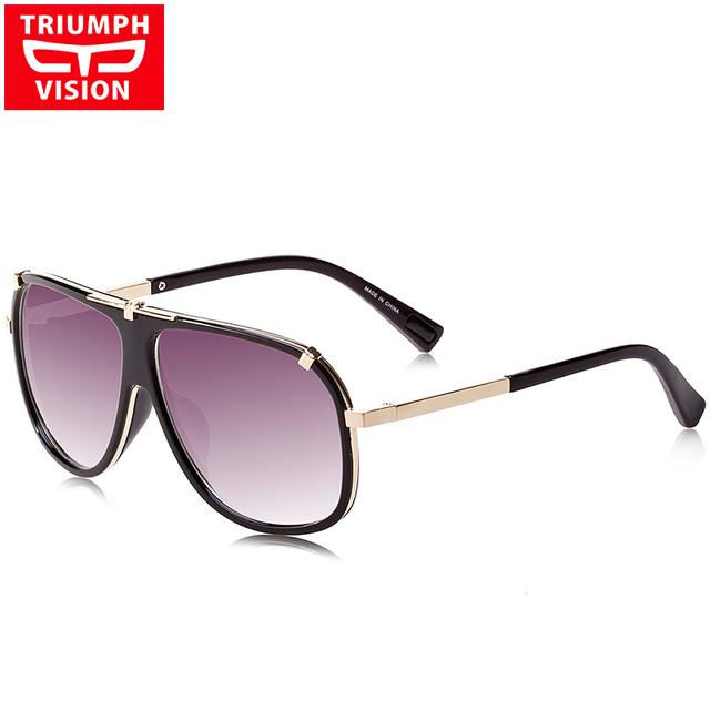 TRIUMPH VISIÓN Masculina de Lujo de la Marca de gafas de Sol De Piloto Hombres Fresco tonos 2016 Caja Original Gafas de Sol De Los Hombres UV400 Gradient lente