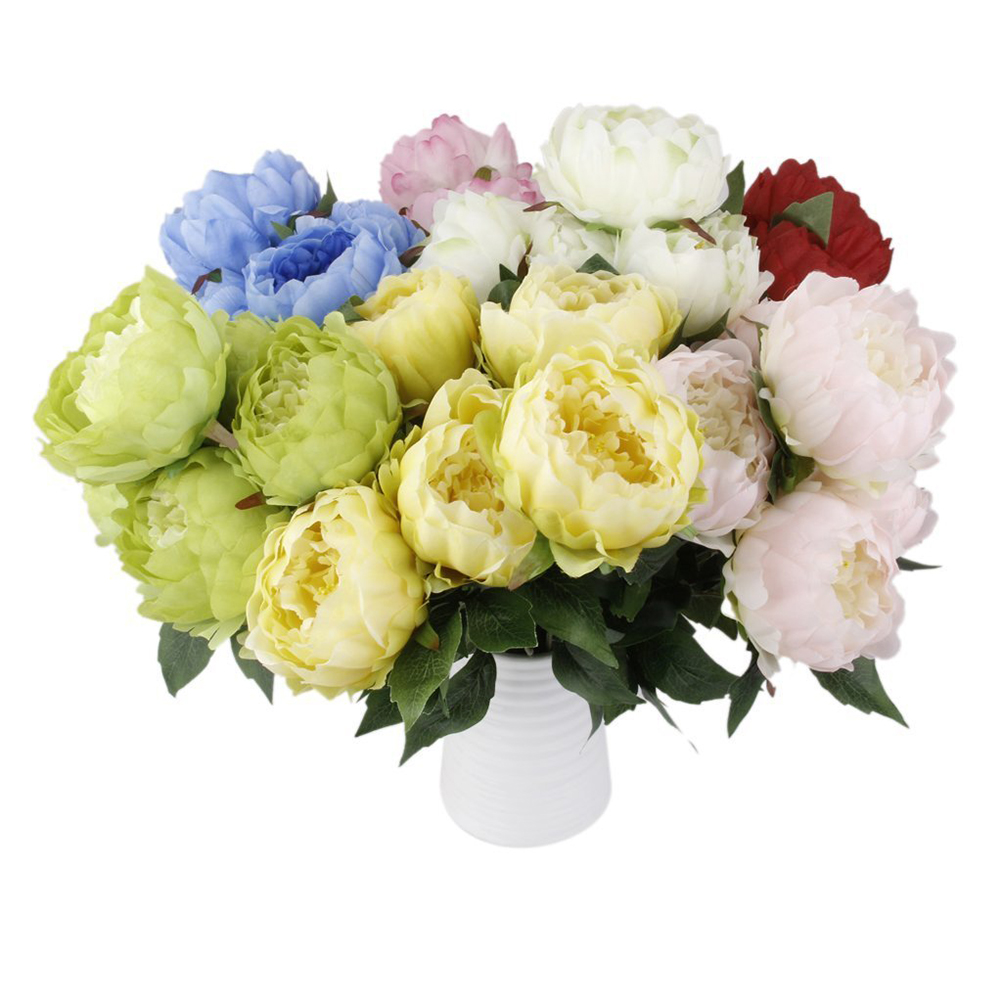 Online get cheap vintage peonies aliexpress alibaba group vintage artificial 5 head elegant artificial peony silk flowers home party decor wedding decoration flores dhlflorist Images