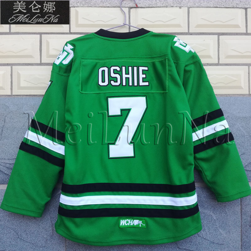 MeiLunNa Christmas Black Friday Youth Kids UND North Dakota Fighting Sioux   7 TJ Oshie 0705 Green Road Jerseys dff01a26a6a