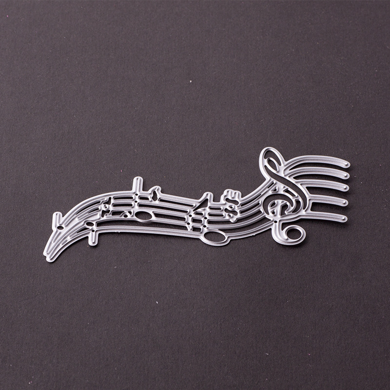 Music Score Shaped Cutting Die Metal Dies Cutting for Scrapbooking Craft Dies Scrapbooking Nouveau Die Cut for Handbook Cards
