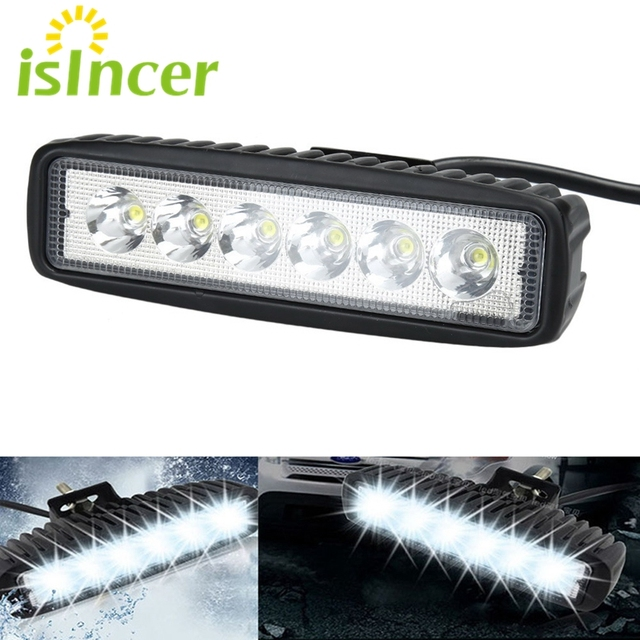 Isincer 18w led flood spot car work light bar spotlight extenral isincer 18w led flood spot car work light bar spotlight extenral work lamp driving fog offroad aloadofball Choice Image