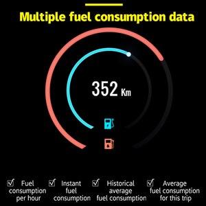 Image 5 - P15 HD TFT OBD Digitale Geschwindigkeit Hud Display Auto Tacho OBD2 Turbo Boost Druck Meter Alarm Öl Wasser Temp Gauge code Reader