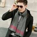 2016 мода имитация Кашемира шарф люксовый бренд Плед Шарф мужчины Зима Теплая bufandas cachecol шарфы высокого качества воротник