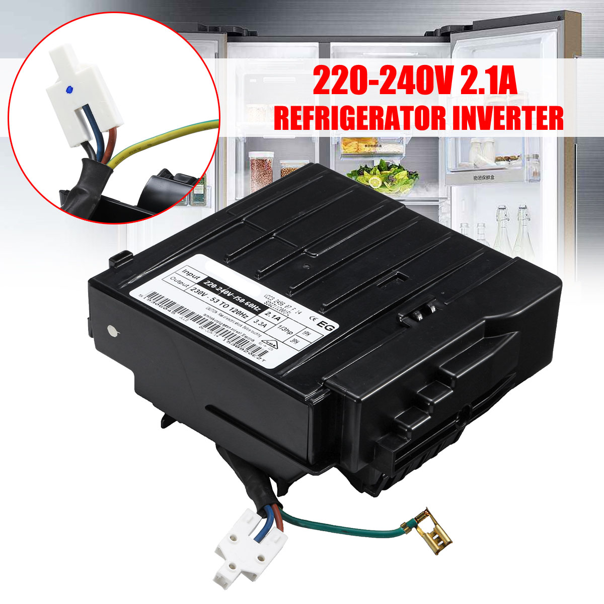 VCC3 2456 220-240V Hole Refrigerator Inverter Board For Embraco
