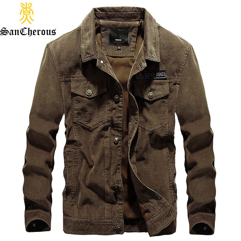 Designer Mens Corduroy Jacket Fashion Solid Turn Down Collar Overcoat Plus Size Casual Jacket Coat For Men Ourwear 4xl Bf58131 Jackets Jackets & Coats