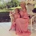 Maxi vestido de Chiffon mãe do vestido de noiva estilo de rede