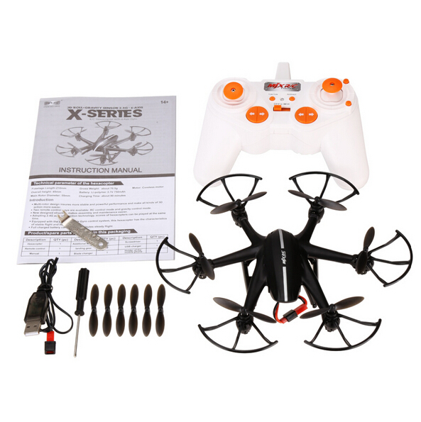 MJX X800 2.4G RC Drone Dron Hexacopter 6-Axis Gyro 3D Roll Helicopter VS MJX X400 X600 X300 X5C X5SW X6SW Can Add C4005 Camera