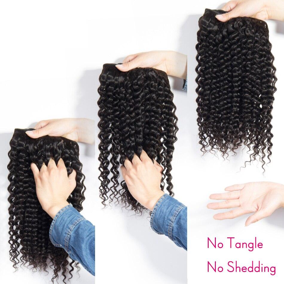 Alibele Peruvain Deep Wave Bundles Natural Color 1B Human Hair Weave  Remy 1B# Natural Human Hair Extension 3 4 Bundles Deal