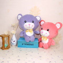 Bears Plush Toys Stuffed Animals Bear Dolls with Bowtie Kids Toys for Children Birthday Gifts Party Decor Soft