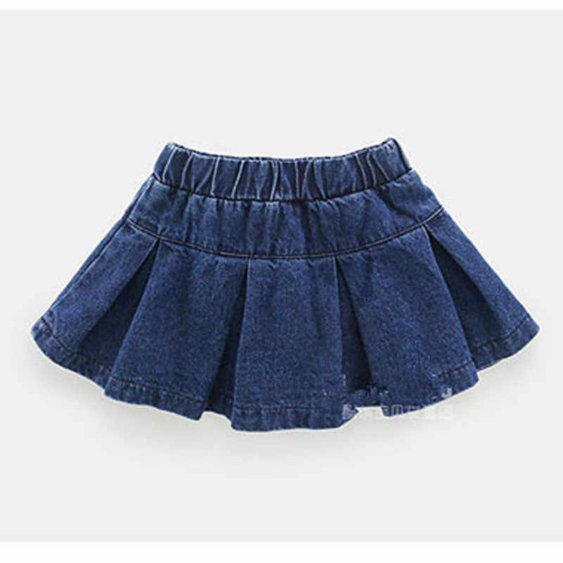 5d08b1139 Fanfiluca faldas de bebé niña falda sólida de mezclilla ropa de moda de  otoño para niñas falda de Jean niña ropa de niños