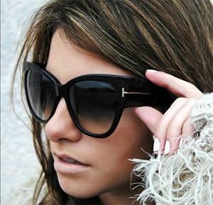 2019 جديد توم الأزياء العلامة التجارية مصمم عين القط المرأة النظارات الشمسية الإناث التدرج نقاط نظارات شمسية كبيرة Oculos feminino دي سول