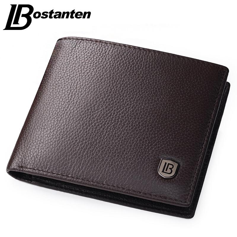 Bostanten Coffee Men Wallets Famous Brand Genuine Leather Mas