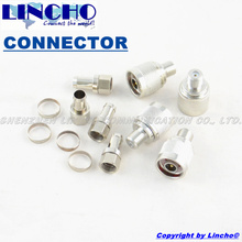 4 sets F male connectors and N male to F female adaptors for signal repeater installation 75ohm RG11 cable