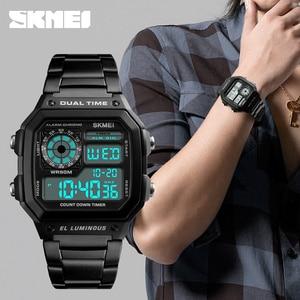 Image 4 - SKMEI Top Luxury Fashion Sport Watch Men 5Bar Waterproof Clock Casual Brand Electronic Mens Watches Digital Wristwatch Male