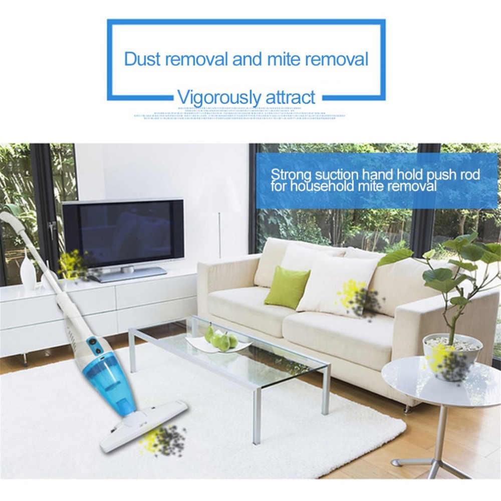 Hand Vacuum Cleaner Push Rod Table Top Kebisingan Mini Home Rod Vacuum Cleaner Portable Kolektor Debu Rumah Aspirator