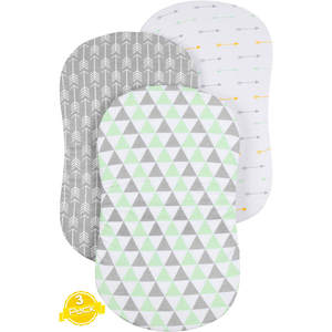 3PC Soft Baby Bassinet Set Cradle Fitted Sheets for Mattress Pads Sleeper Cover