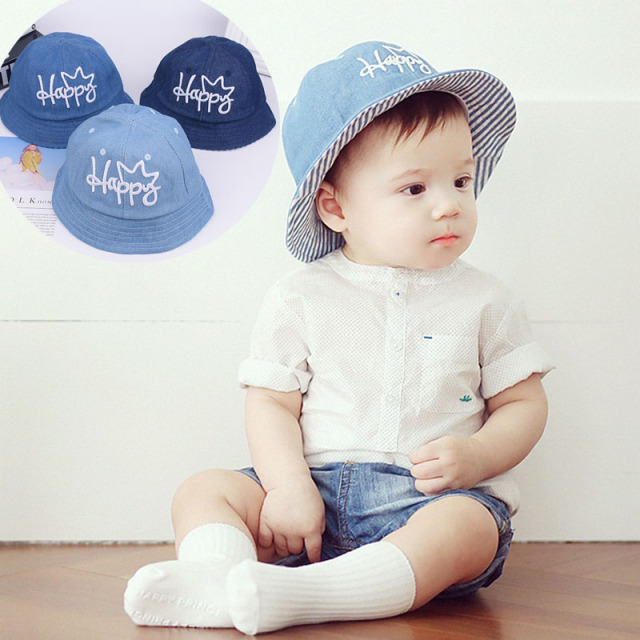 BalleenShiny Cute Baby Cowboy Hat Toddler Letter Sun Cap Kids Beathable  Fisherman Hat Baby Outdoor Beach Hat For Summer 47edc31b803