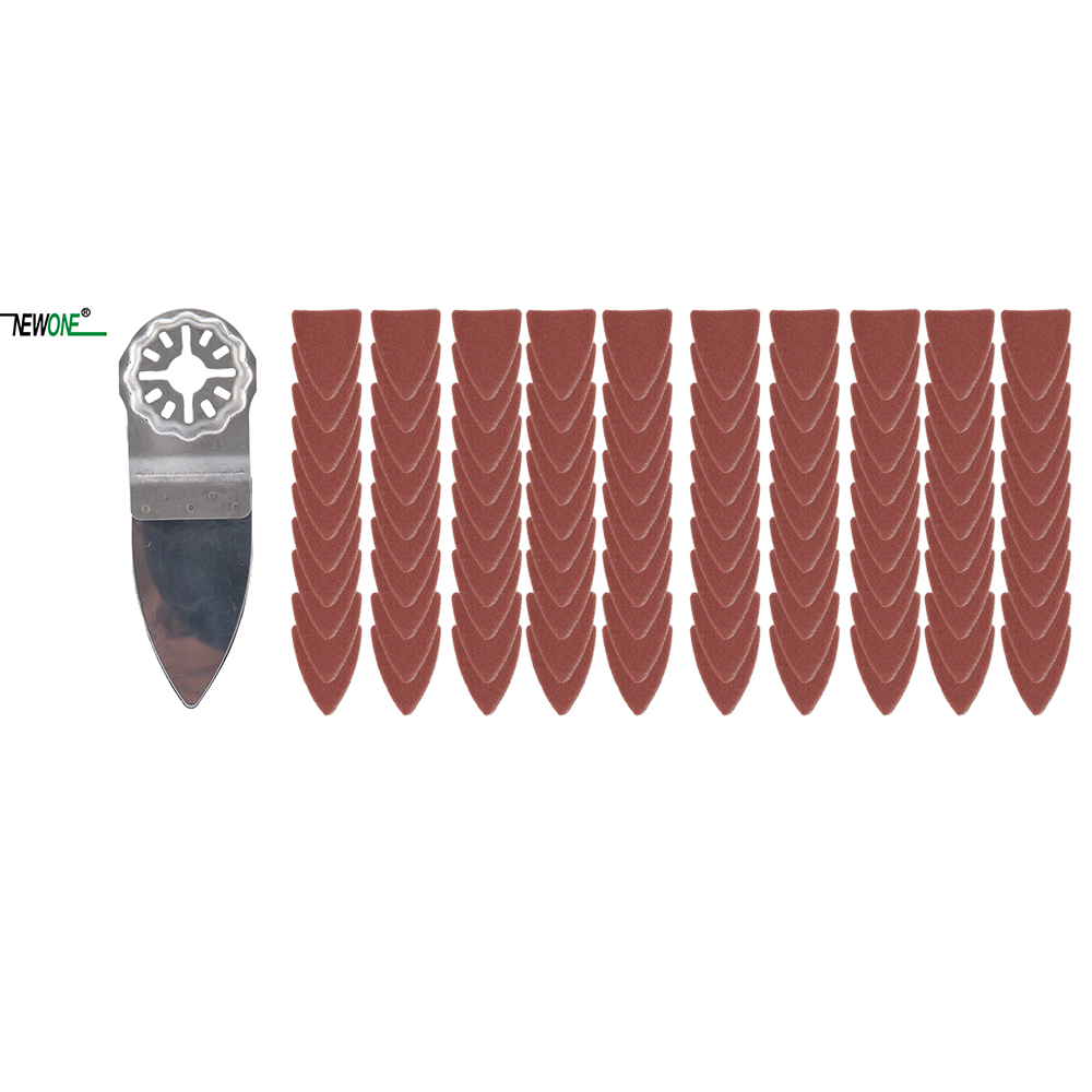 NEWONE Starlock Finger Polish Saw Blades and Sandpaper Sets fit Power Oscillating Tools for Polish Wood Metal Ceramic moreNEWONE Starlock Finger Polish Saw Blades and Sandpaper Sets fit Power Oscillating Tools for Polish Wood Metal Ceramic more