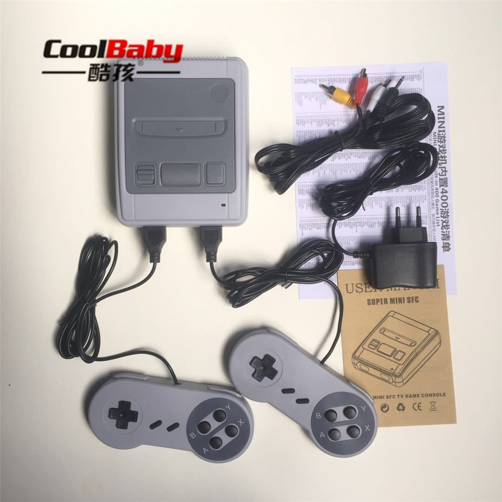 freeshipping Retro Classic Handheld Game Player Video Game Console Mini Family TV Video Built-in 400 Games with Dual Gamepad