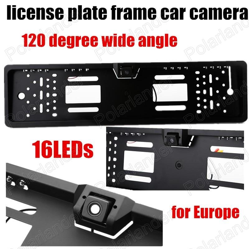 Universal 16 LED European License Plate Frame Auto Camera Car Rear ...