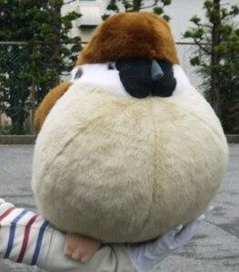 Image 2 - Gorrión y pájaro real de 38/32/45cm, peluches, almohada de muñeco de gorrión de peluche, juguetes para niños, regalo de cumpleaños para niños y niñas