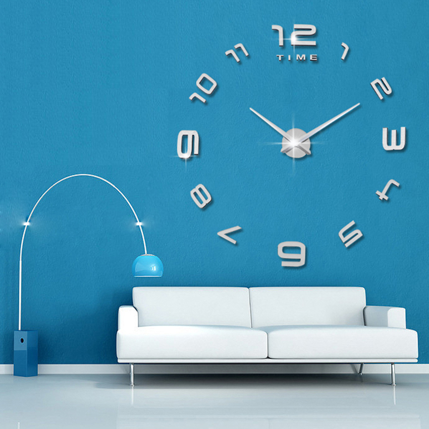 2020 New Silent Wall Clock Saat Classic Style Home Decor Decoration Living room Watches Fashion Brief Quartz Clock Large Clocks