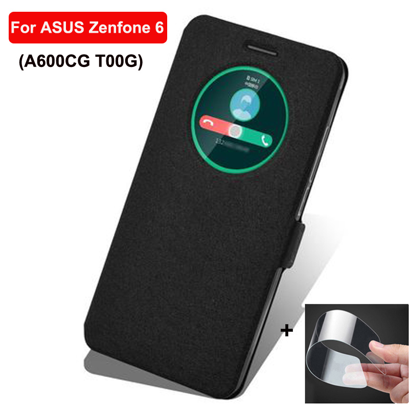 6.0inch Open window cover For <font><b>ASUS</b></font> ZenFone 6 Case cover leather phone Cases For <font><b>ASUS</b></font> ZenFone6 A600CG <font><b>T00G</b></font> case cover filp shell image