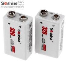 Recarregável plus Carregador de Caixa 2 Soshine 9 V 6f22 Pçs e set 320 Mah Lifepo4 Bateria de Portátil