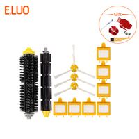 E.LUO Replacement Parts Bristle & Flexible Beater Brush, Hepa Filter, Side Brush for Vacuum Cleaner iRobot Roomba 700 Series