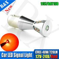 1pcs 48W 1157 9 Crees SMD BAY15D Led High Power Lamp 21 5w Led Car Bulbs