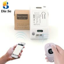 433 MHz rf uzaktan kumanda ile uyumlu WIFI kontrol AC 110V 220V 250V 10A 1CH IOS android telefon