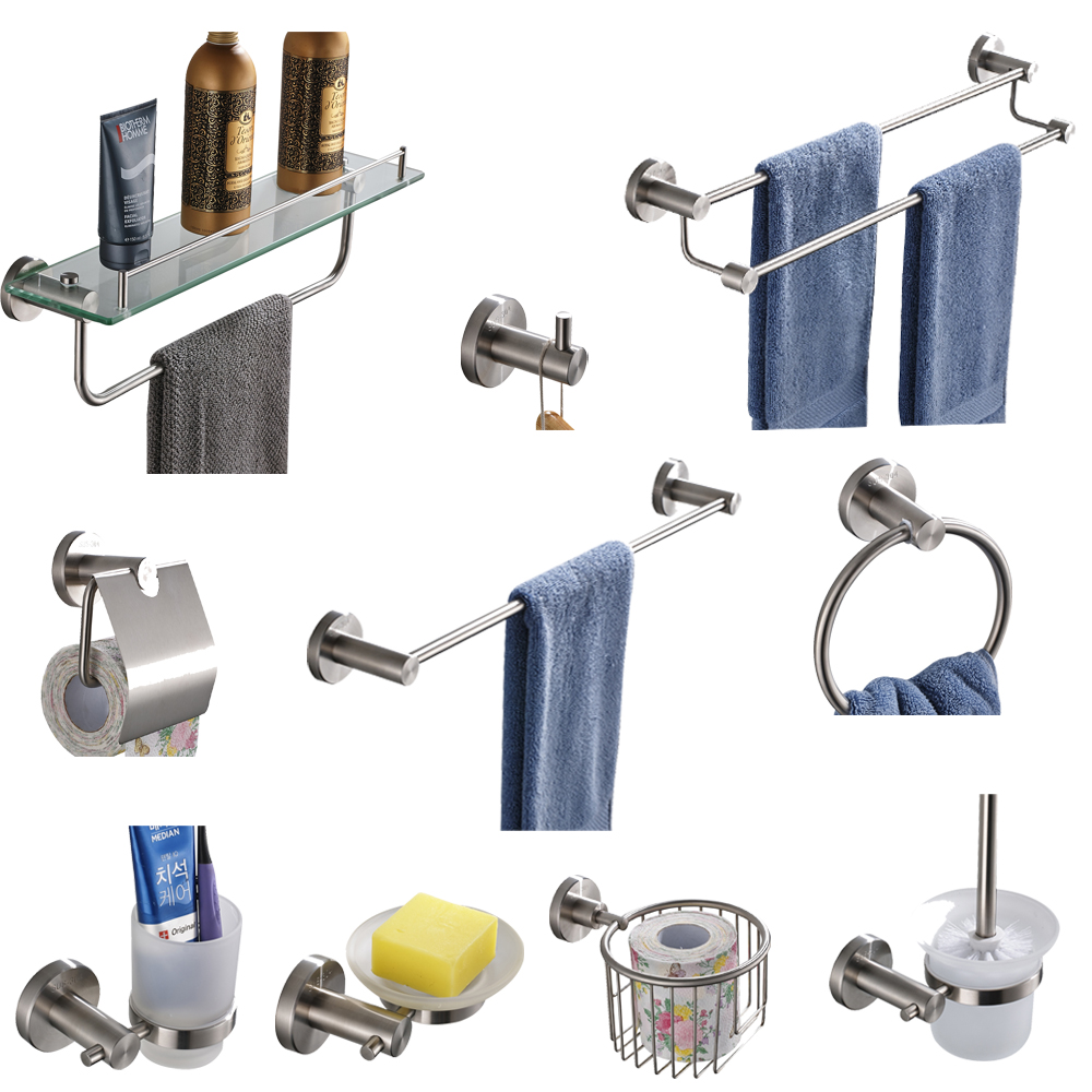 Free shipping,Stainless Steel Bathroom Accessories Set,Paper Holder ...