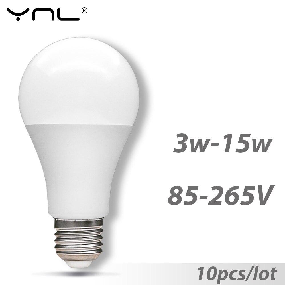 10pcs Bombillas E27 Led Light Bulb 220V 110V 3W 5W 7W 9W 12W 15W 85-265V Top Quality Lampada Led Spotlight Light