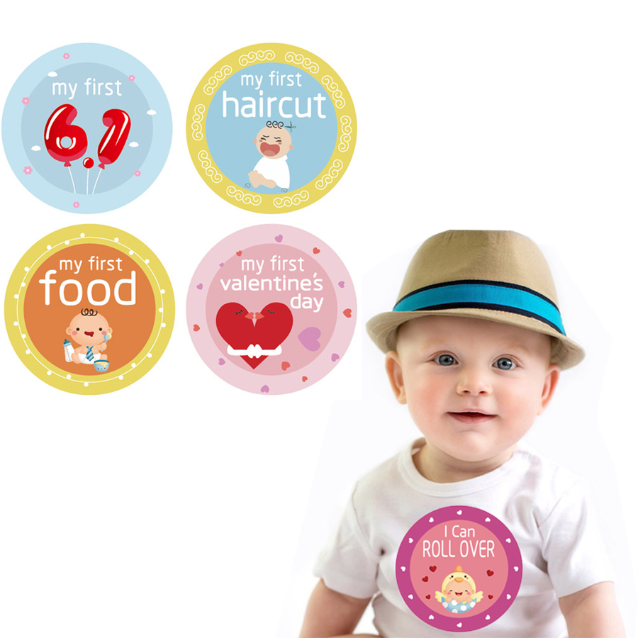 18pcs/set Baby Souvenirs Card Infant Milestone Memory Monthly Paper Memory Funny Newborn Baby Photography Props Reusable New