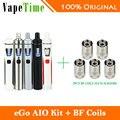 Aio kit joyetech ego 1500 mah capacidade da bateria original all-in-one kit com 0.6ohm cigarro eletrônico bobina vaping preço barato!