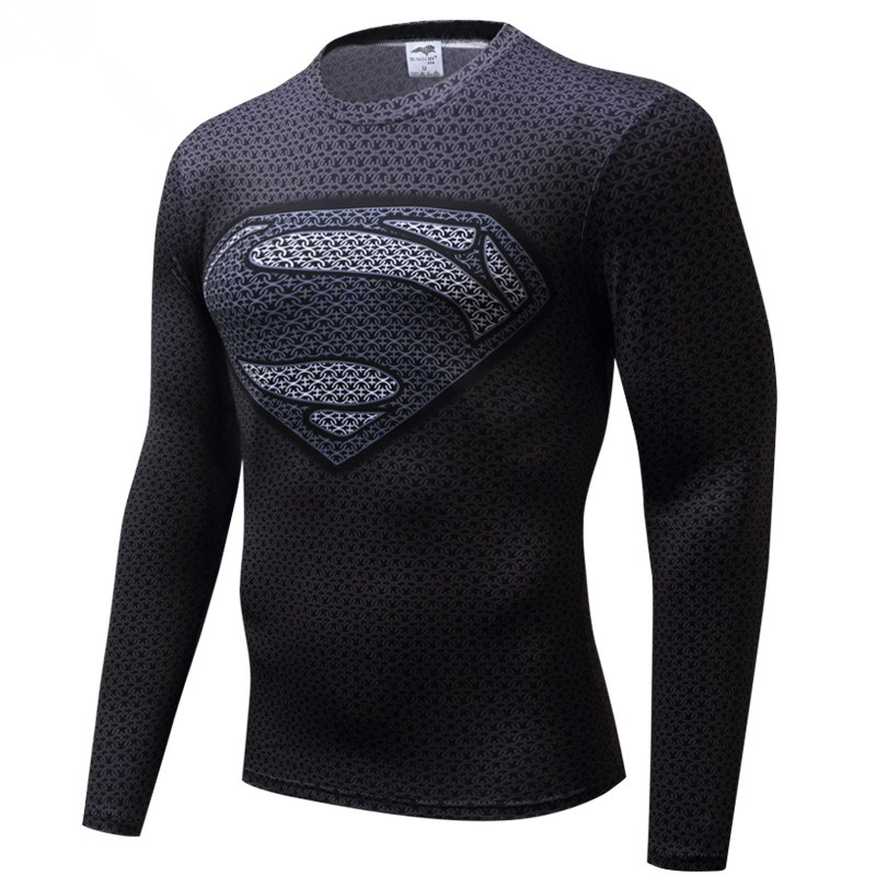 Free shipping 2018 t-shirt Superman/Batman/spider man/captain America /Hulk/Iron Man / t shirt men fitness shirts men t shirts