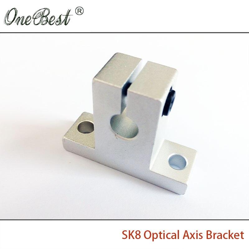 2Pcs lot Vertical SK8 Optical Axis Bracket font b 3D b font font b Printer b