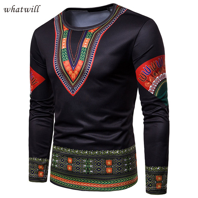 3d printed men's fashion african clothes casual robe