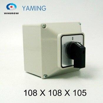 Botón de interruptor giratorio de leva de cambio de YMW26-32 eléctrico/3M de Yaming, 32A, 3 fases, 3 posiciones con caja impermeable, interruptor IP65